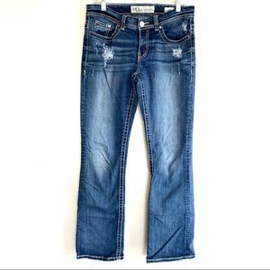 BKE Buckle Payton Distressed Straight Leg Jeans